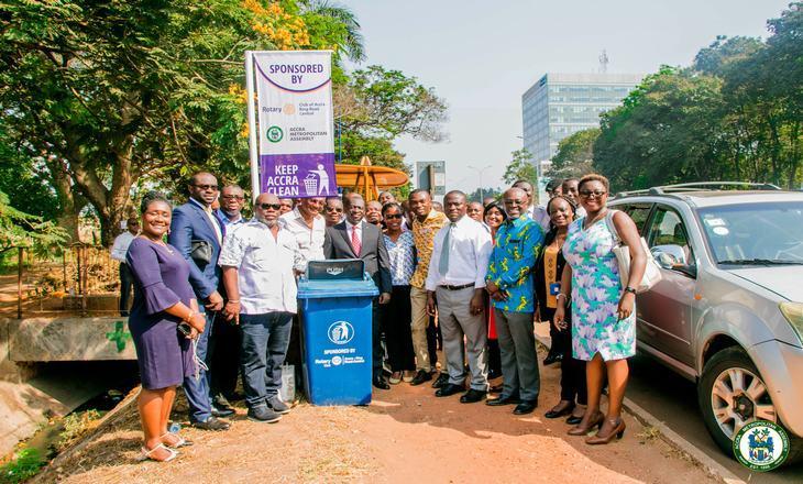 Rotary Club and AMA partnership Improve Sanitation in Accra