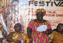 madam janet edna nyame middle addressing participants at the launch photo seth osabukle