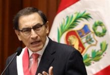 Peruvian President Martin Vizcarra called for a new vote of confidence [Mariana Bazo/Reuters]