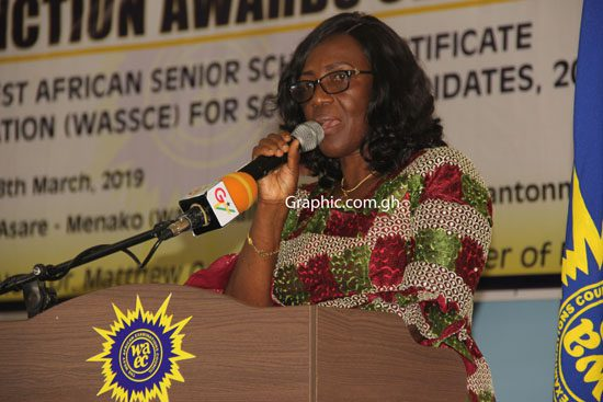 Head of Ghana Office of WAEC, Mrs Wendy Addy-Lamptey