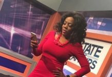Nana Aba Anamoah In Red Hot Outfit