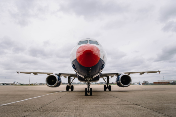 Red-nosed airplane