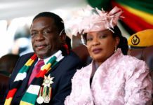 Zimbabwe President Emmerson Mnangagwa And First Lady Auxilia At His Inauguration After Winning The July National Election