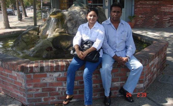 ISI handler Sajjad Hossain with his wife waiting for client in Houston, Texas