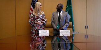 Ivanka Trump, and H,E, Kwesi Quartey, Deputy Chairperson, African Union