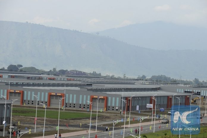 Photo taken on July 13, 2016 shows the Hawassa Industrial Park in twon, 275 kilometres south of Addis Ababa, Ethiopia. [Photo/Xinhua]