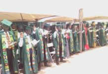 cross section of graduands during the graduation