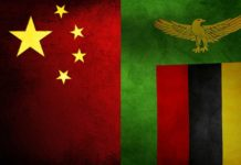Zambia - China Flag