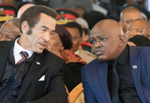 FORMER FRIENDS … Ian Khama and Mokgweetsi Masisi during happier days.