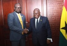 Kurt Okraku visited President Nana Akufo-Addo