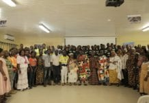 Newmont Goldcorp Akyem Learnership Graduants with Newmont officials, Family and Chiefs of Akyem
