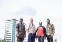 (L-R) OluDele Sonekan, Simon R Turner, Kafui Doris Anson-Yevu, Edison Gbenga Ade