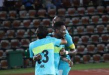 Asamoah Gyan scores