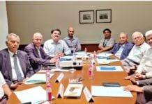 L to R Mr. R. S. Bachkaniwala, Mr. Suresh Vaidya, Mr. Avinash Mayekar, Mr. Gurudas Aras, Mr, S. Hari Shankar, Ms. Seema Srivastava, Mr. G.T. Dembla, Mr. Narendra L. Shah, Mr. Sanjiv Lathia & Mr. Mr. Ketan Sanghvi
