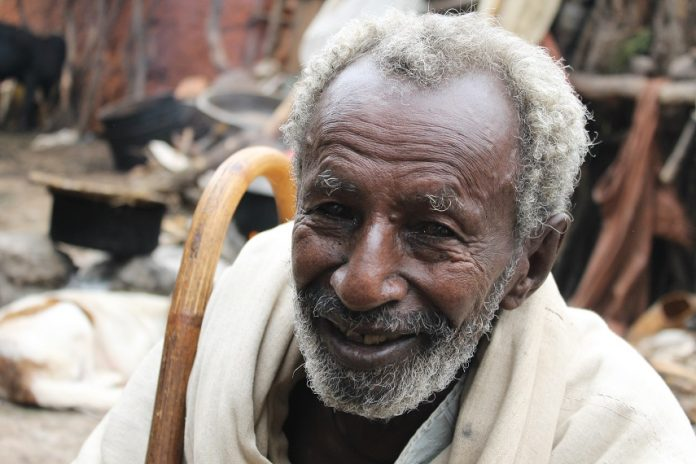 An older person from Ethiopia
