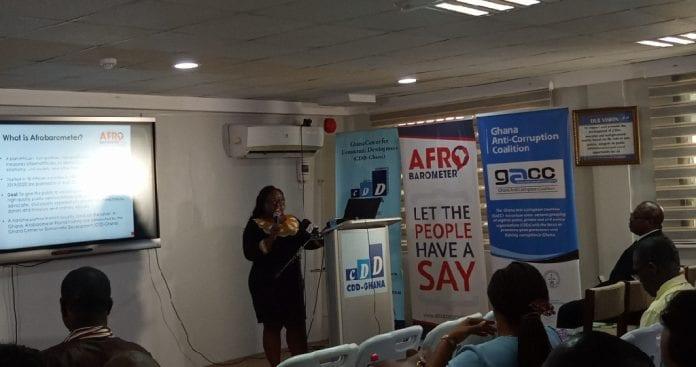 Josephine Appiah-Nyamekye Sanny presenting