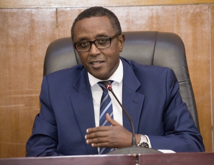 Rwanda's new foreign minister Vincent Biruta speaks during a welcoming event for him in Kigali, capital of Rwanda, on Nov. 7, 2019. Rwandan President Paul Kagame on Monday evening reshuffled the cabinet, appointing a new foreign minister and reintroducing the portfolio of internal security. (Photo by Cyril Ndegeya/Xinhua)