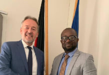 Kurt Okraku meets German Ambassador Christoph Retzlaff