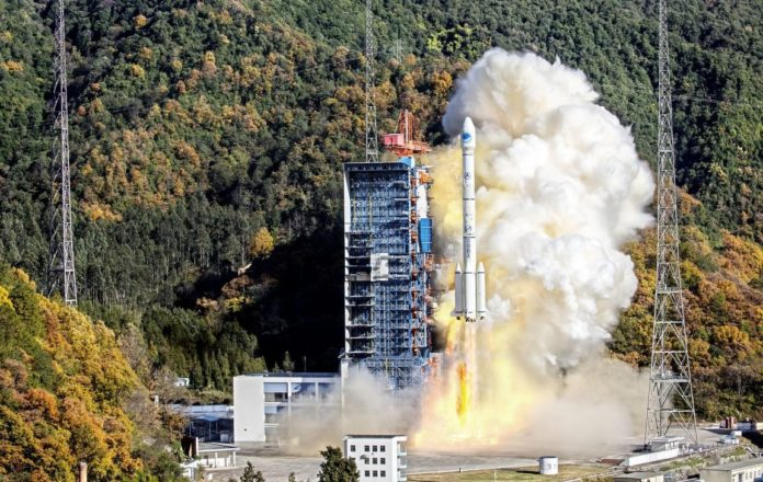 The 52nd and 53rd Beidou Navigation Satellite System satellites take off from the Xichang Satellite Launch Center in Sichuan province, on Dec 16, 2019. Photo by Zou Sen from People's Daily Online