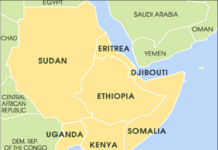 Map of the Horn of Africa