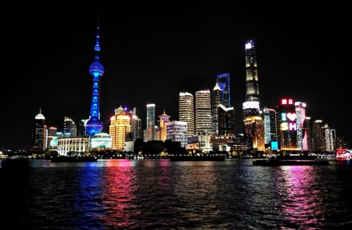 Lujiazui Financial City, Shanghai shines at night, December 2019. Photo by Yan Daming, People's Daily