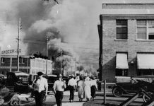 Tulsa massacre of 1921 where white mobs attacked the African American community killing 300 people