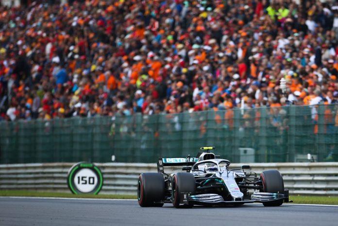 Lewis Hamilton of Mercedes drives during the Formula 1 Belgian Grand Prix at Spa-Francorchamps Circuit, Belgium, Sept. 1, 2019. (Xinhua/Zheng Huansong)
