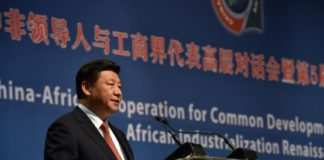 Chinese President, Xi Jinping addressing conference in Industrializing Africa