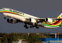 Air Zimbabwe plane.