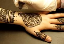 Nubian henna tattoos