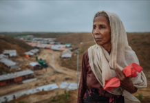 Amina and her three children are among the estimated 855,000 Rohingya refugees who have fled Myanmar since August 2017. Photo: IOM/Muse Mohammed