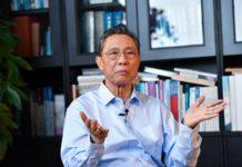 Chinese renowned respiratory scientist Zhong Nanshan receives an interview with Xinhua in Guangzhou, south China's Guangdong Province, Jan. 28, 2020. (Xinhua/Liu Dawei)