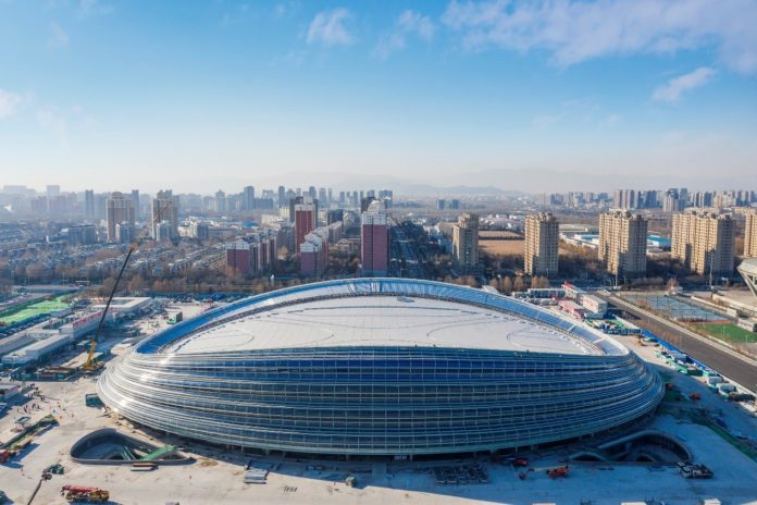 The landmark venue for the 2022 Winter Olympics - the National Speed Skating Oval, also known as the