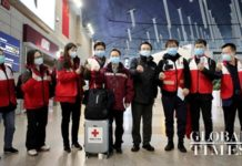 China dispatches a team of nine medical experts to Italy, on Thursday, to help fight the COVID-19 pandemic, along with 31 tons of medical supplies, including ICU ward equipment, protective outfits, and antiviral drugs. Photo by Yang Hui from Global Times