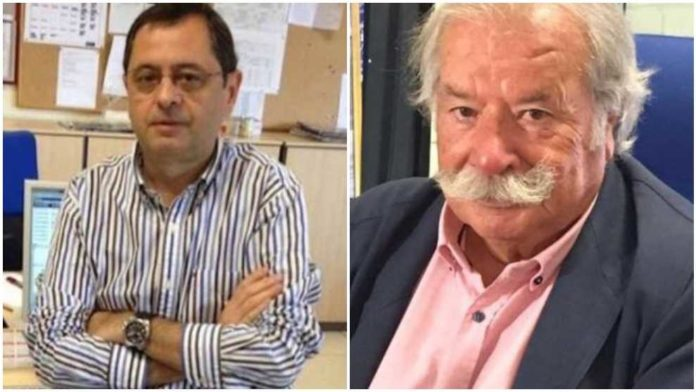 LR José Maria Candela (RNE) and Tomás Díaz-Valdés (former Diario AS) in a collage picture by NordcapStudio.