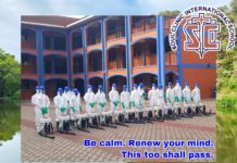 Soul Clinic International disinfects school