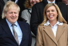 British Prime Minister Boris Johnson And His Fiancee Carrie Symonds
