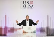 Ray Dalio, founder and co-chairman of hedge fund behemoth Bridgewater Associates, speaks at an evening event held by National Committee on U.S.-China Relations in New York, the United States, Nov. 14, 2019. The United States and China should cope with frictions on various fronts with mutual understanding, and build a win-win relationship by seeing things through each other's eyes, a U.S. hedge fund manager has said here. (Xinhua/Wang Ying)