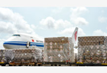 China's medical supplies for 18 African countries arrive at the Kotota International Airport in Accra, capital of Ghana, April 6, 2020. China's medical supplies for 18 African countries have arrived here on Monday, and are scheduled to be delivered to the other 17 countries within a few days. The beneficiary African countries are Ghana, Nigeria, Senegal, Gabon, Sierra Leone, Guinea-Bissau, Guinea, Cote d'Ivoire, Gambia, Liberia, Mali, Burkina Faso, Republic of Congo, Equatorial Guinea, Togo, Benin, Cape Verde, as well as Sao Tome and Principe. (Xinhua/Xu Zheng)