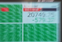 An electronic board showing the closing numbers of Nikkei Stock Average in Tokyo, Japan, on March 6, 2020. Tokyo stocks closed sharply lower Friday as investor sentiment was risk-averse from the outset following a global equities rout triggered by an escalation in concern over the spread of the coronavirus. (Xinhua/Du Xiaoyi)