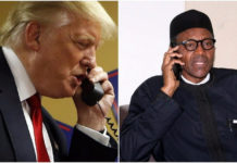 Donald Trump speaks with President Buhari on phone