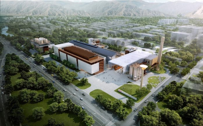 A computer graphic rendering of the museum and its surroundings when it is expected to finish in July, 2021. Photo courtesy of Li Li.
