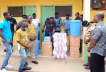 Hohoe Nabco Personnel Donate To Health Facilities In Covid Fight