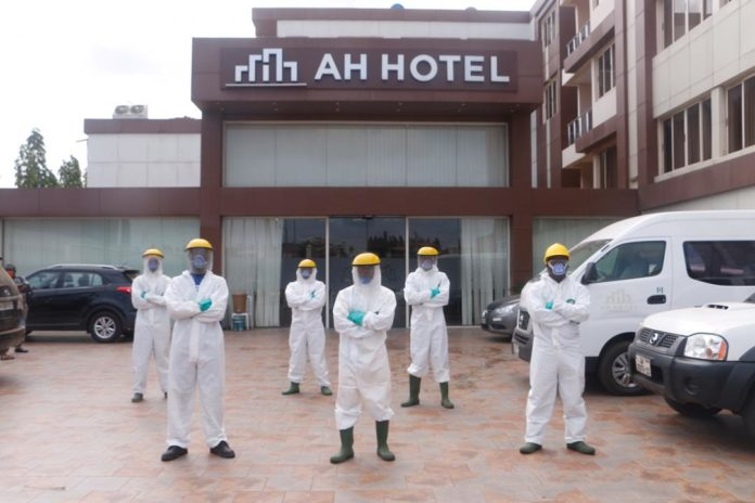 Zoomlion Disinfects AH Hotel