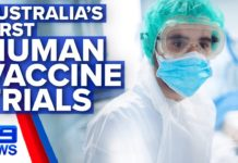 Australia's first human trials