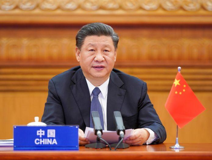 President Xi Jinping speaks during the G20 Extraordinary Leaders' Summit on COVID-19 on Thursday. Photo: Li Xueren/Xinhua