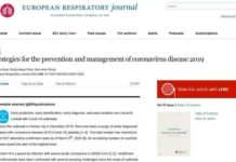 The website screenshot of Strategies for the Prevention and Management of Coronavirus Disease 2019