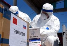 On April 2, a batch of personal protective equipment were sent from North-east China's Heilongjiang province to Russia through Heihe customs. Qiu Qilong / People's Daily Online