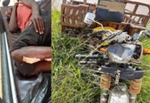 Rickshaw Rider Injured In An Accident On Tarkwa Damang Road
