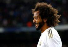 Soccer Football - La Liga Santander - Real Madrid v Barcelona - Santiago Bernabeu, Madrid, Spain - March 1, 2020 Real Madrid's Marcelo reacts REUTERS/Juan Medina